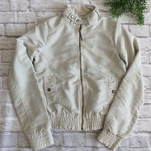 Fred Perry off white jacket women's small coat